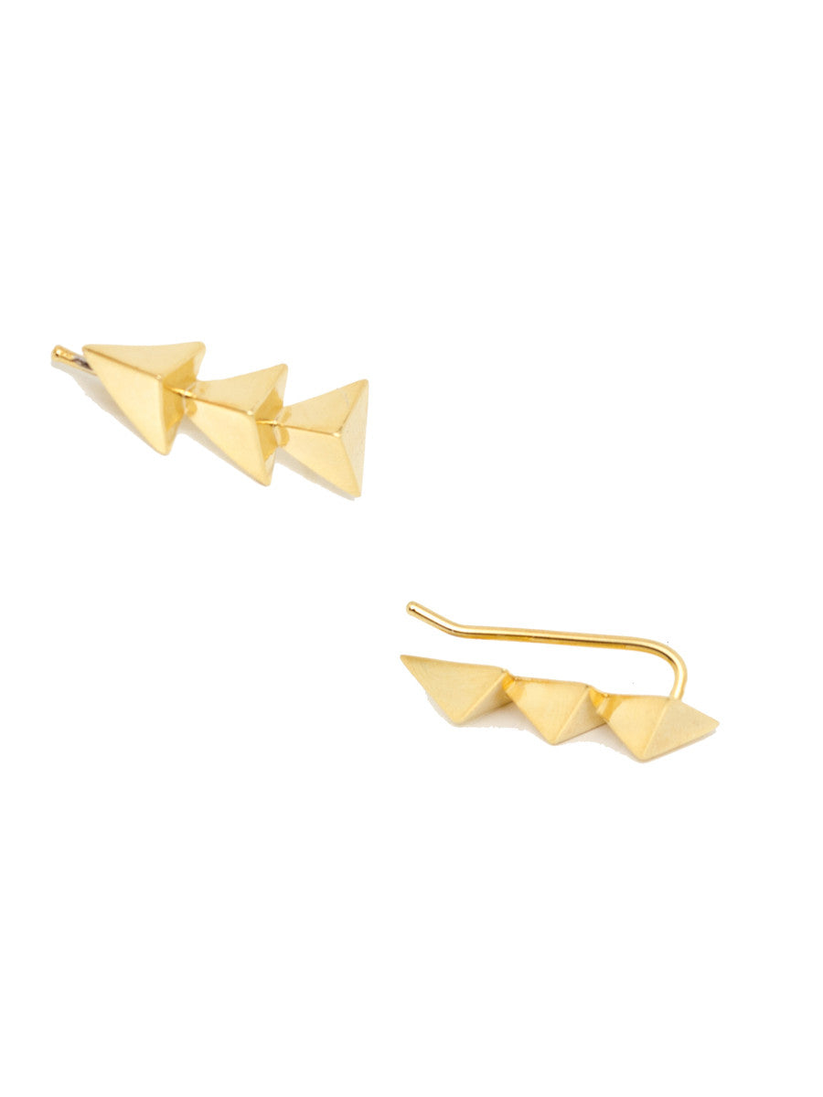 TRIANGLE CUFF EARRINGS - MAKKO