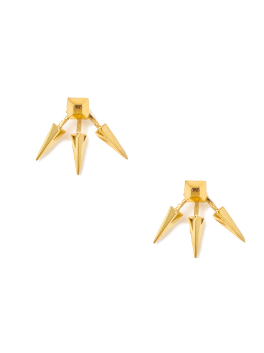 TRIPLE SPIKE EARRINGS - MAKKO