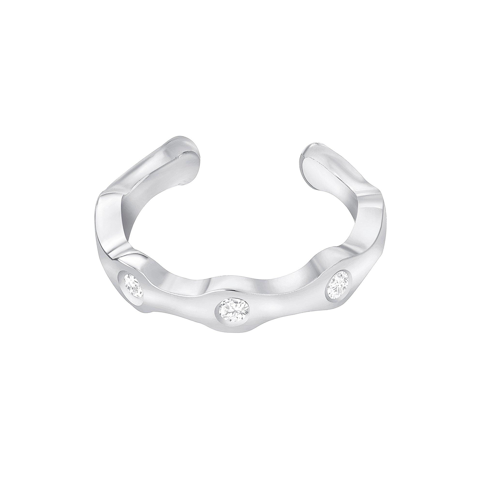 DAZZLE CIRCLE DIAMOND EAR CUFF - MAKKO