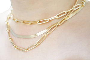 Paperclip Chain Necklace - MAKKO