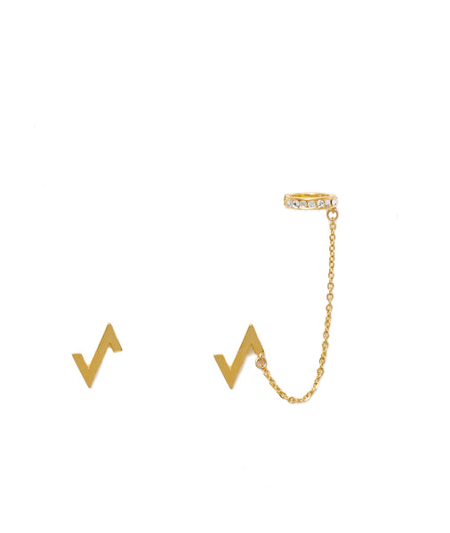 POWER SPIKE CHAIN EAR CUFF