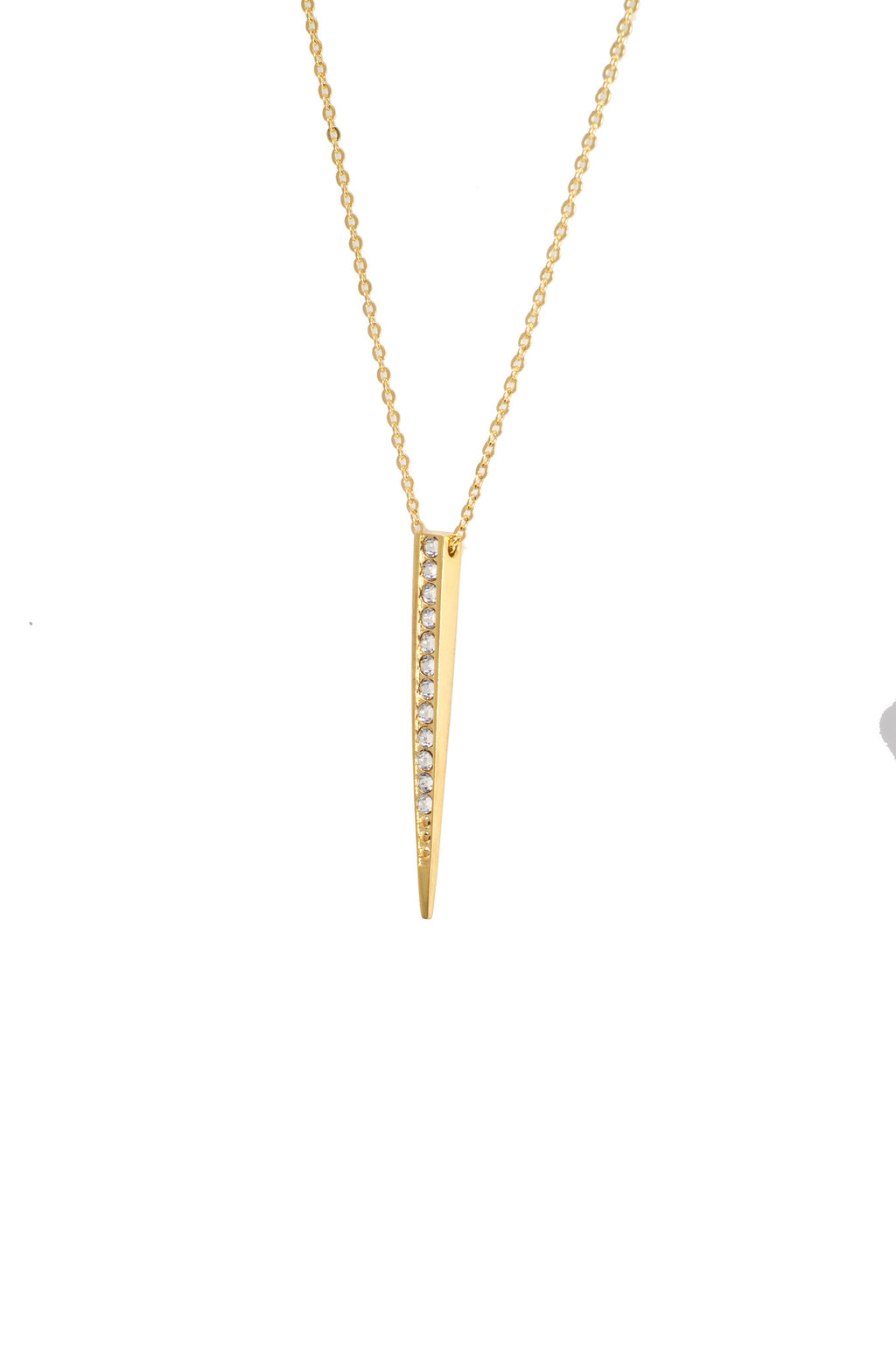 SINGLE SPIKE STONE NECKLACE - MAKKO