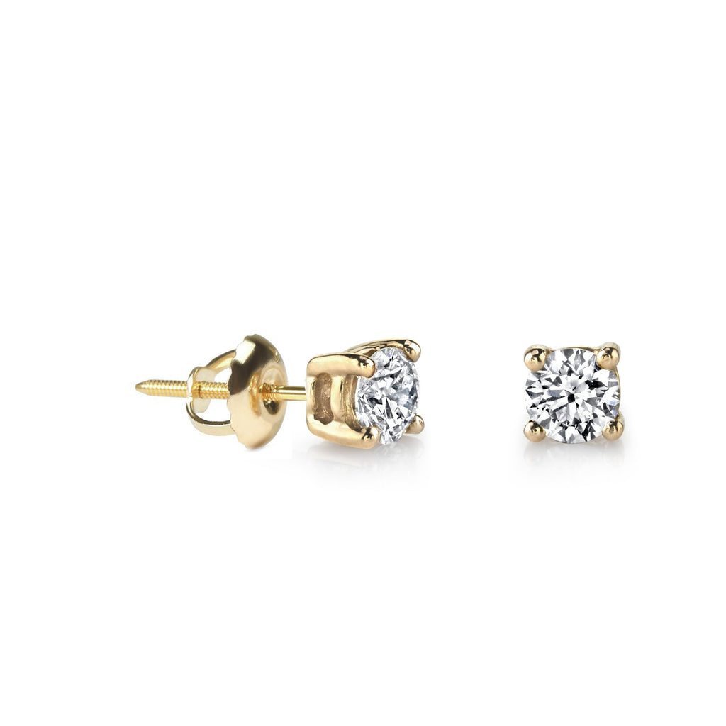 Diamond Stud Earrings - MAKKO
