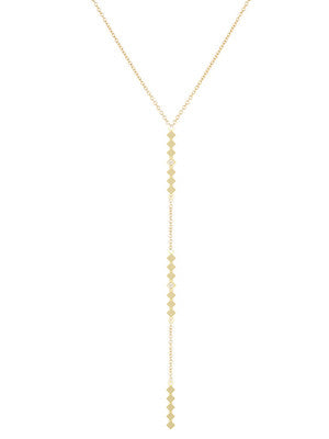 TRIPLE DIAMOND LARIAT NECKLACE - MAKKO
