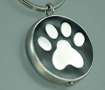 Paw Print Key Chain: Black