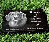 Laser Etched Granite Burial Markers