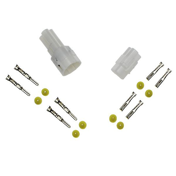 ES143 3-pin Sealed Connector Set WHITE