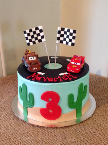 Cars Cake--Toppers provided by customer