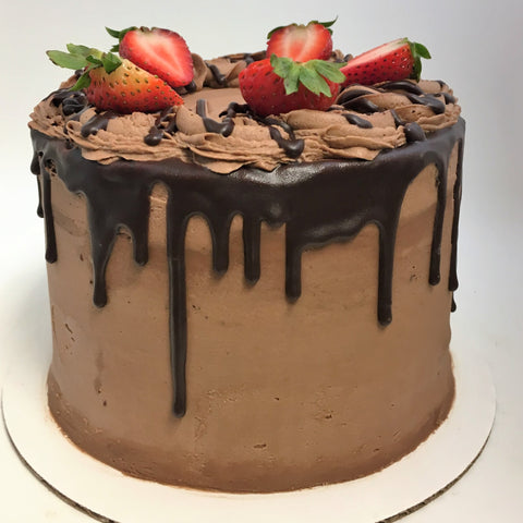 Chocolate Covered Strawberry Cake (7 days notice required)