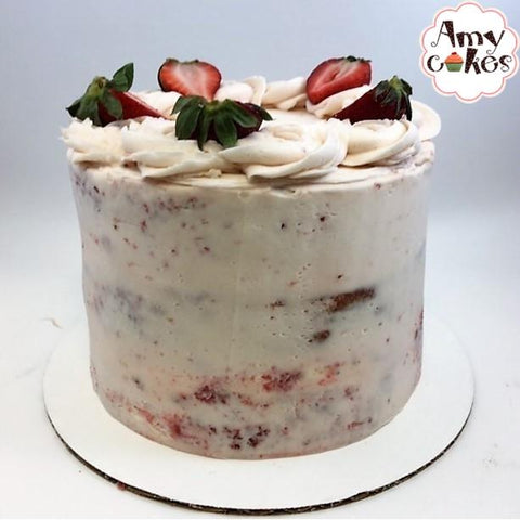 Fresh Strawberry Amycake (6 inch) - Amycakes Bakery