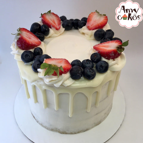 Red, White and Blueberry Amycake (Seasonal)