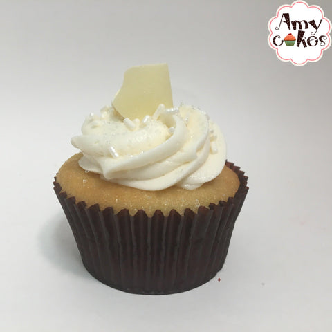 Pearly White Cupcakes (choice of flavor) Amycakes Bakery