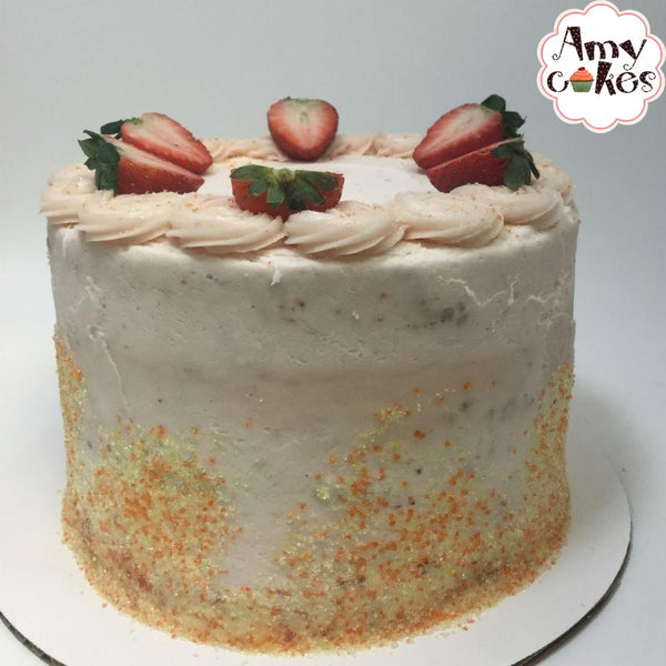 Strawberry Sunset Cake 6 inch