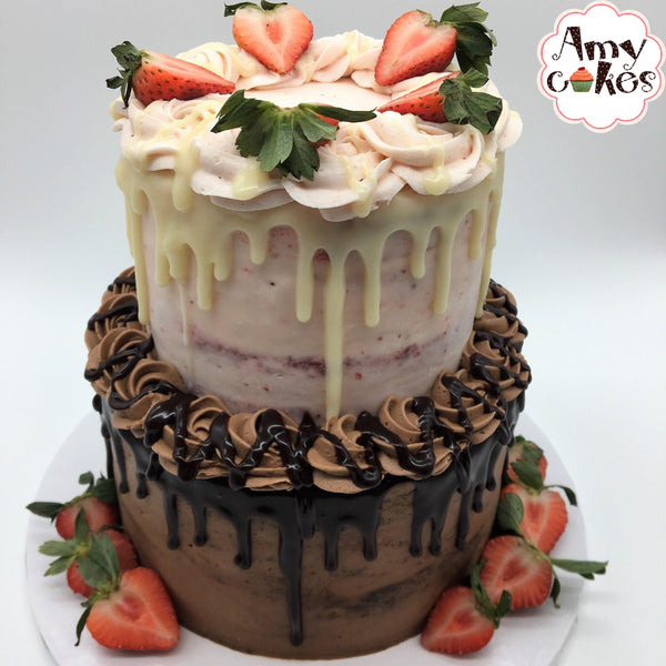 Tiered Amycake--multi-flavored Amycakes Bakery