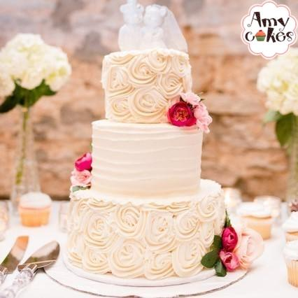 Create Your Own Classic Texture Tiered Cake - Amycakes Bakery