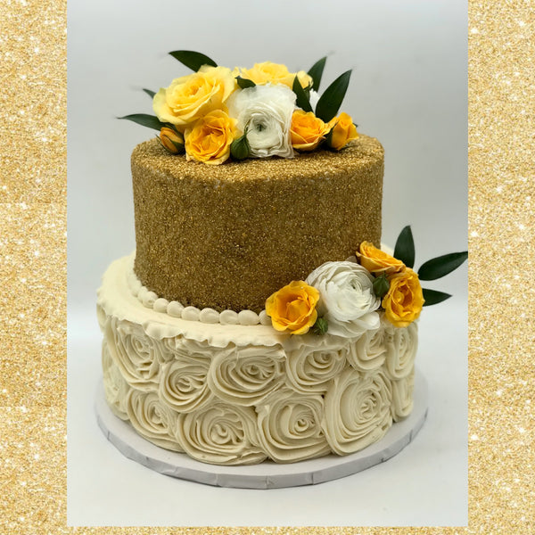 Classic Rosette and Sprinkle Tiered Cake (3 weeks' notice required)