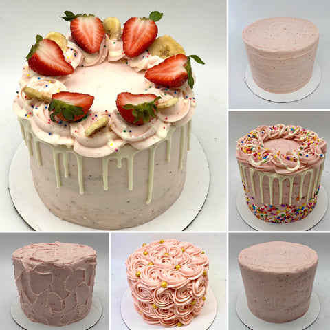 Strawberry Banana Smoothie Cake (10 Days' notice required)