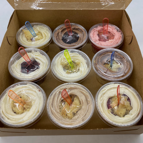 Mini Cake Cups Sampler Box (limited quantities, 24 hours notice required)