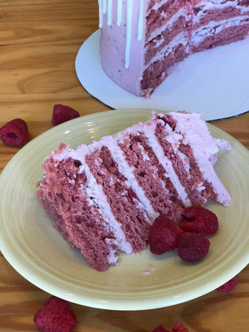 Fresh Raspberry Amycake (Available through June, 3 weeks' notice required)