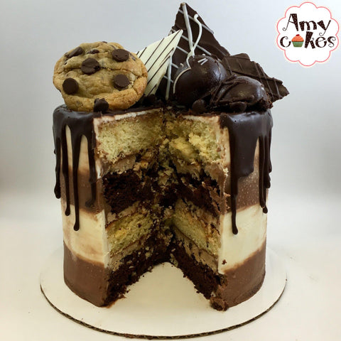 Chocolate Chip Cookie Dough Whimsy Cake