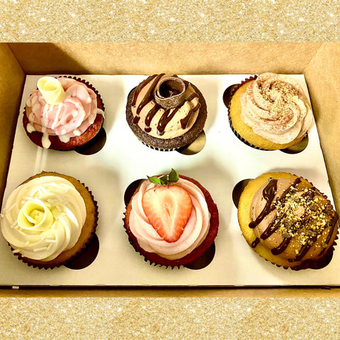 Wedding Tasting Cupcake Box (we pick the flavors)(One Week's Notice Required)