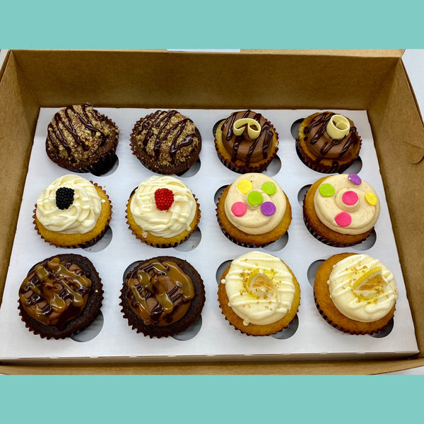 January Staff Favorites Deluxe Medley Cupcakes (24 hours notice required in January)