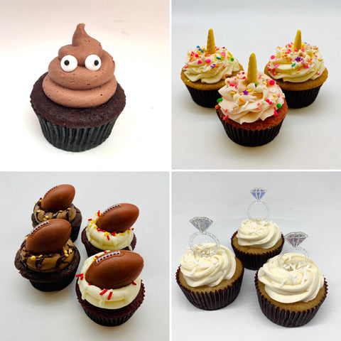 Themed Variety Cupcakes with toppers (2 days' notice required)