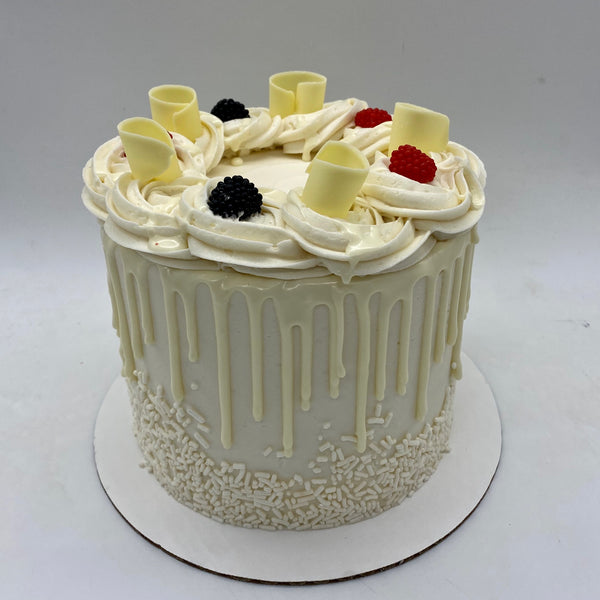 Triple Berries 'n' Cream Amycake  (limited quantities, 4 days' notice required)