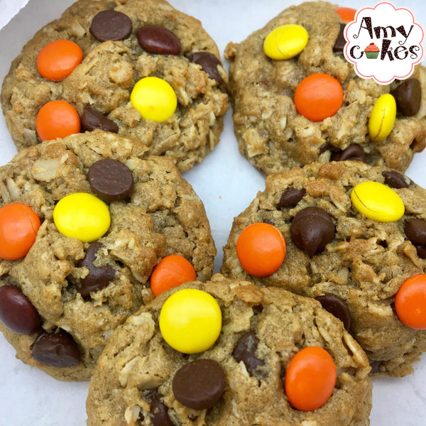 Fall Reeces Monster Cookies