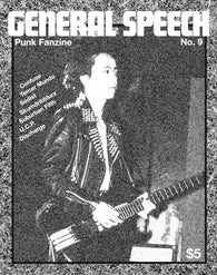 General Speech No. 9 Fanzine (Confuse, Tercer Mundo, Sadist, Skumdribblurz, Suburban Filth, Unwanted Christmas Presents, Discharge)