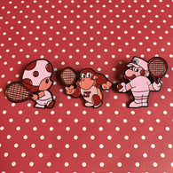 Virtual Boys in a Virtual Tennis World - 3 Pin Set!