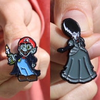 Count Mario + Haunted Princess Peach