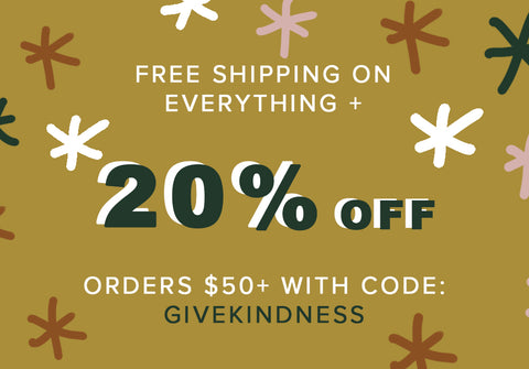 free shipping and 20 percent off