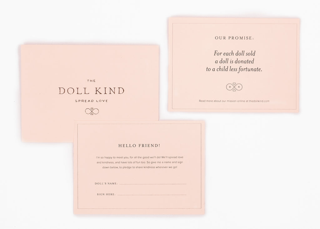 The Doll Kind Naming Certificate