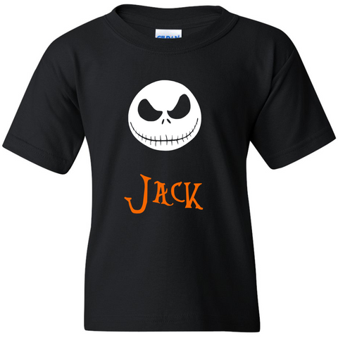 TurnTo Designs - Nightmare Before Christmas JACK SKELLINGTON Vinyl with Custom Name Logo Number