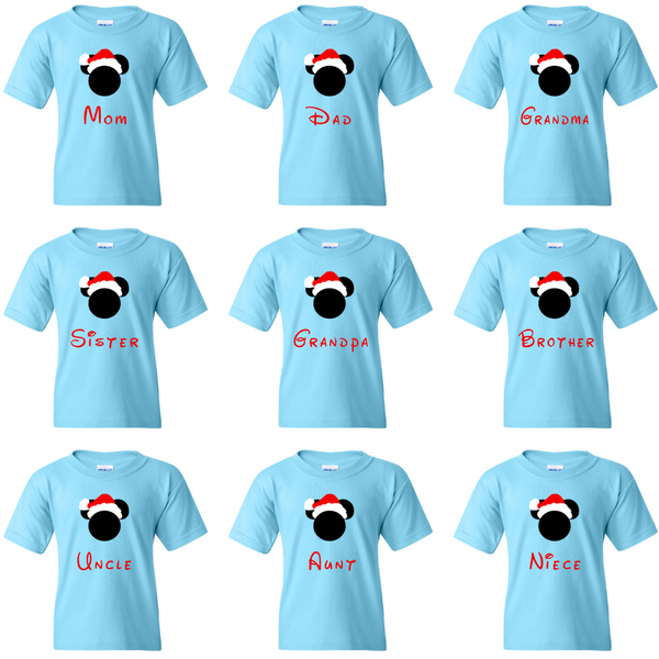 TurnTo Designs - Disney Mickey and Disneyland Family Christmas Vacation shirts with Custom names