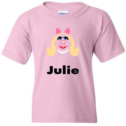 TurnTo Designs - Muppets MS PIGGY Vinyl with Custom Name Logo Number