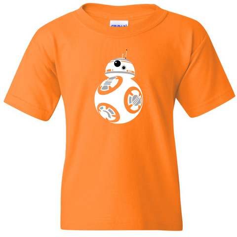 TurnTo Designs - Stars Wars BB-8 Vinyl Orange T-Shirt