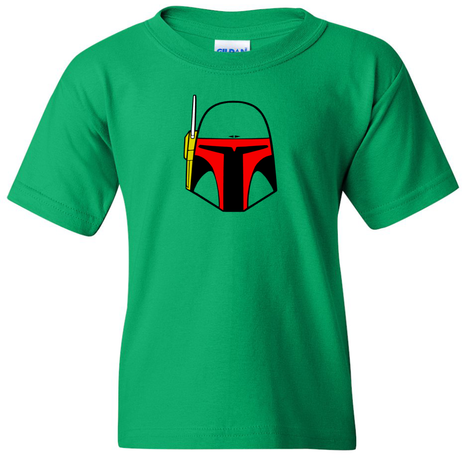 TurnTo Designs - Stars Wars BOBA FETT Vinyl Green T-Shirt