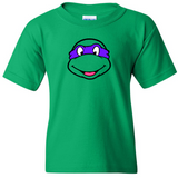 TurnTo Designs - Birthday TEENAGE MUTANT NINJA TURTLE Donatello  Boys Vinyl Green Shirt - SWALKERDESIGNS & TurnTo Designs