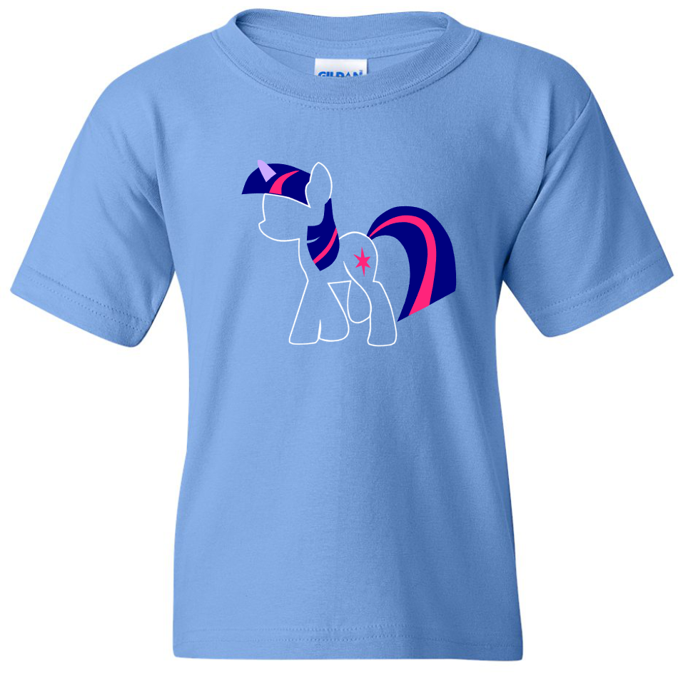 TurnTo Designs - My Little Pony TWILIGHT SPARKLE Vinyl Carolina Blue Shirt