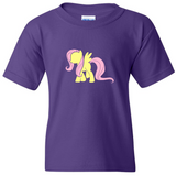 TurnTo Designs - My Little Pony FLUTTERSHY Vinyl Purple Shirt