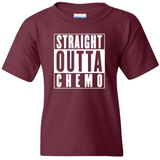 "TurnTo Designs - ""Straight Outta Chemo"" Vinyl Maroon T-Shirt - SWALKERDESIGNS & TurnTo Designs"