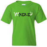 "TurnTo Designs - ""WHERE? HERE."" Double Word Vinyl Electric Green T-Shirt - SWALKERDESIGNS & TurnTo Designs"
