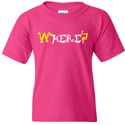 "TurnTo Designs - ""WHERE? HERE."" Double Word Vinyl Heliconia T-Shirt - SWALKERDESIGNS & TurnTo Designs"