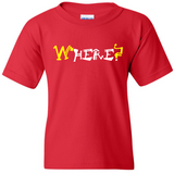 "TurnTo Designs - ""WHERE? HERE."" Double Word Vinyl Red T-Shirt - SWALKERDESIGNS & TurnTo Designs"