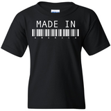 "TurnTo Designs - ""Made In America"" Barcode Vinyl Black T-Shirt - SWALKERDESIGNS & TurnTo Designs"