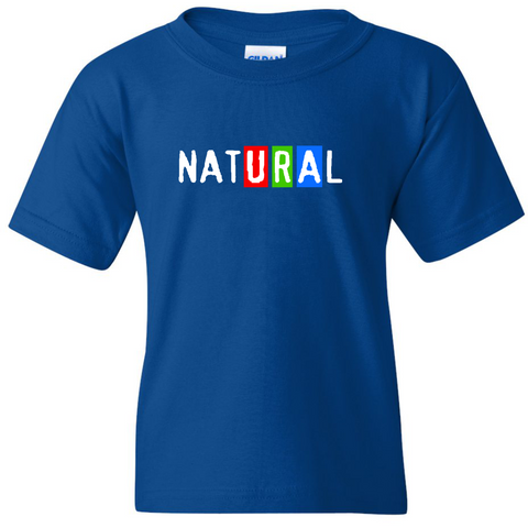 "TurnTo Designs - ""URA Natural"" Vinyl Blue T-Shirt - SWALKERDESIGNS & TurnTo Designs"