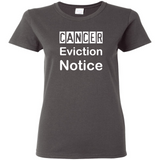 TurnTo Designs - Cancer Eviction Notice Vinyl Gray T-Shirt - SWALKERDESIGNS & TurnTo Designs