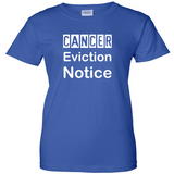 TurnTo Designs - Cancer Eviction Notice Vinyl Royal Blue T-Shirt - SWALKERDESIGNS & TurnTo Designs